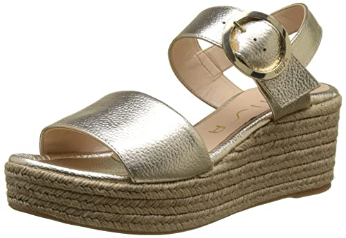 Unisa Kacera_MD, Alpargata para Mujer, Dorado (Platino), 41 EU: Amazon.es: Zapatos y complementos