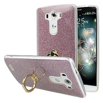 LG G3 Fundas con Soporte Función, LG G3 Carcasas Silicona, LG G3 Back Case Cover, Moon mood® Suave de TPU + Papel Brillo Trasero CasoShell Phone ...