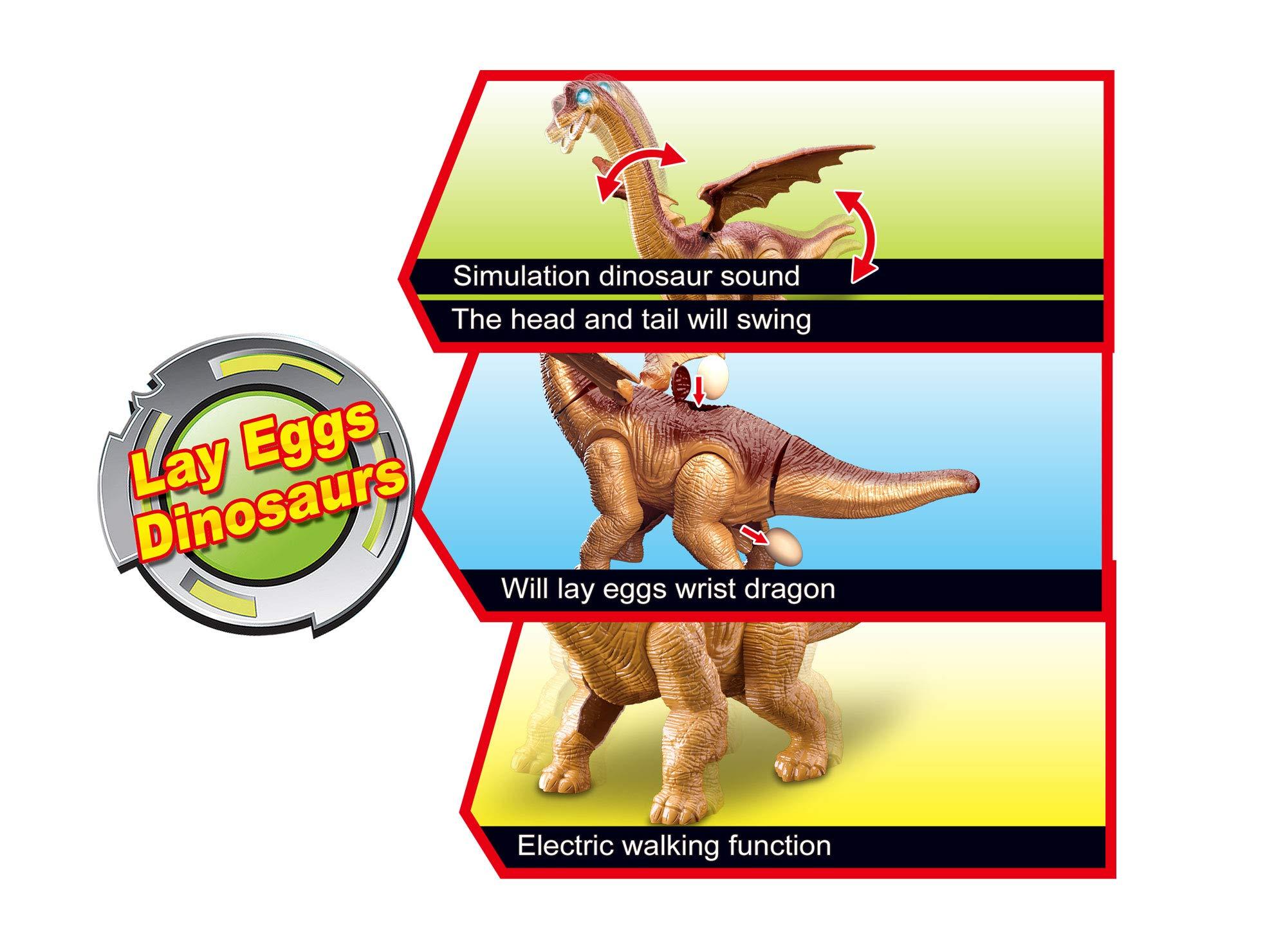 PowerTRC Walking Brachiosaurus Toy Dinosaur Makes Sounds and Even Lay Eggs by PowerTRC (Image #1)