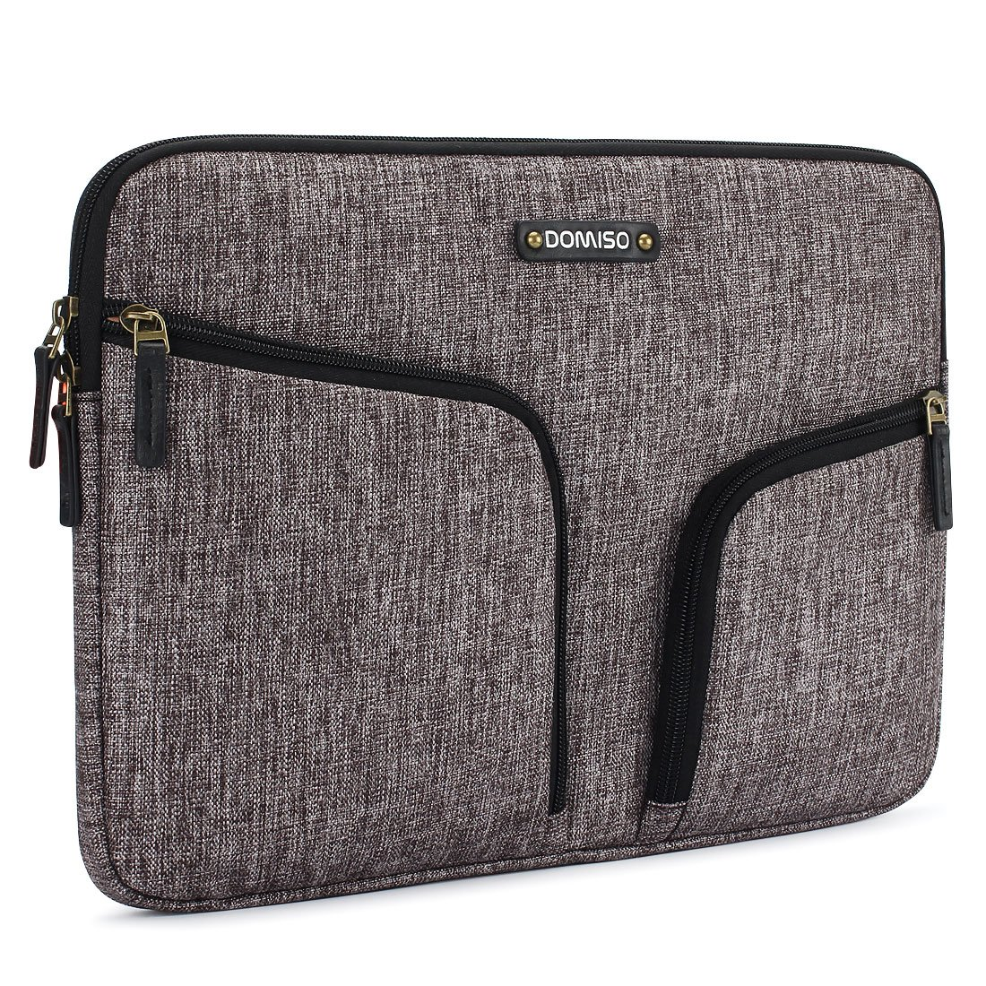 DOMISO 10.1 inch Waterproof Laptop Sleeve Canvas with Back Handle Protective Bag for 10.1-10.5 inch Laptops/eBooks / Kids Tablet/iPad Pro/iPad Air/Lenovo Yoga Book/Asus / Acer, Grey