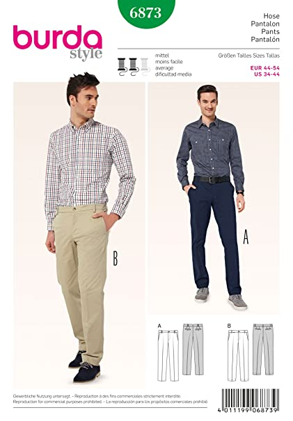 Amazon BURDA 40 MENS PANTS 40 STYLES SEWING PATTERN Inspiration Mens Suit Sewing Patterns