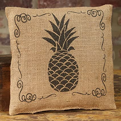 The Country House Collection Small Burlap Pineapple Pillow (8u0026quot; ...