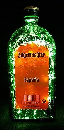 Jägermeister - Lámpara de botella con 80 LED, diseño de bandera de España: Amazon.es: Iluminación