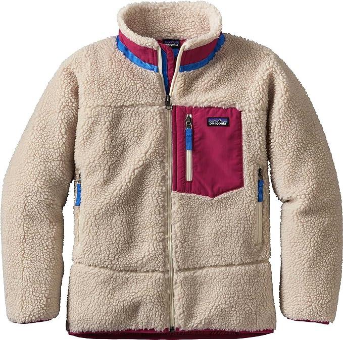 1f587da17 Patagonia Girls Retro-X Fleece Jacket (L, Natural/Craft Pink ...