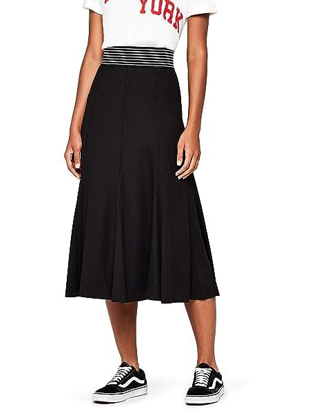 53a6d5e03971 find. Gonna Midi Plissettata Donna: Amazon.it: Abbigliamento