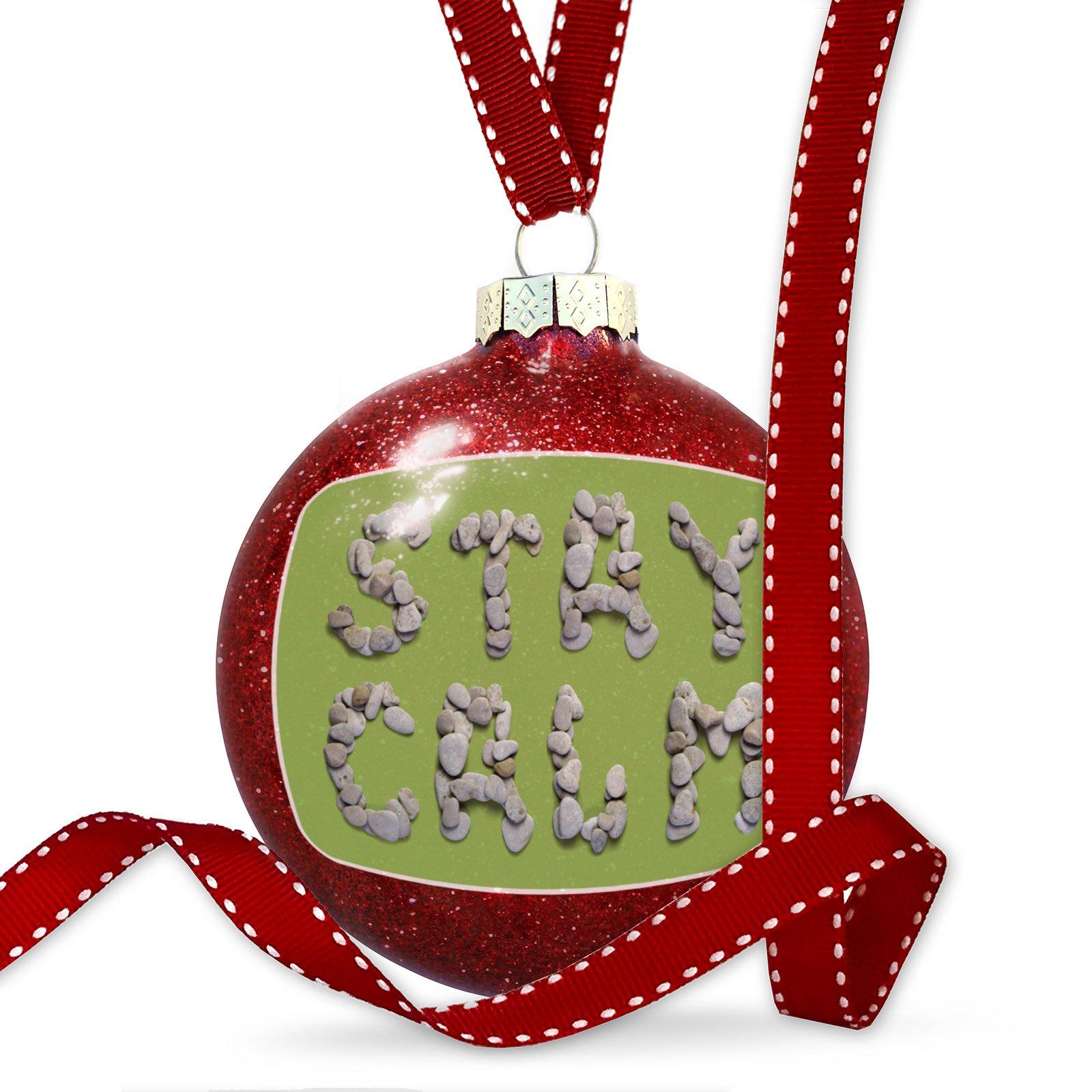 Christmas Decoration I Love Calm Spa Stones Rocks Ornament