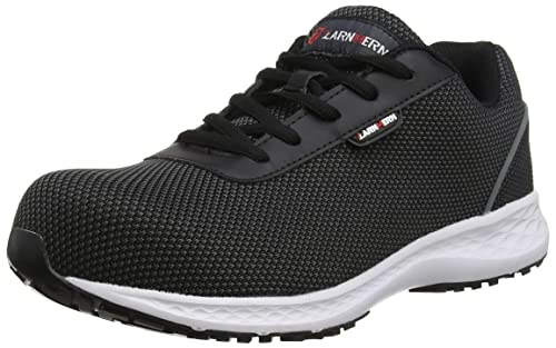 huge discount 5a36f 4608a LARNMERN Mens Steel Toe Safety Shoes,LM-30 Flyknit Breathable Lightweight  Reflective Work Shoes