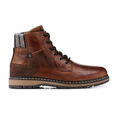 Cox Herren Herren Winter-Boots aus Leder, Freizeit-Stiefel in Braun mit  rutschhemmender Laufsohle braun Leder 43  Cox  Amazon.de  Schuhe    Handtaschen 8565ebf63a