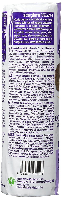 Probios Go Vegan Galletas con Avena y Chocolate - 18 paquetes: Amazon.es: Alimentación y bebidas