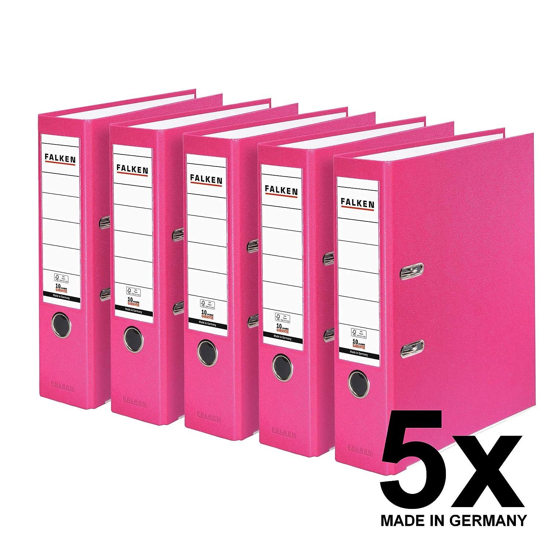 Falken Carpeta de polipropileno de colores, 3 y 5 unidades, color rosa 5 unidades ancho: Amazon.es: Oficina y papelería
