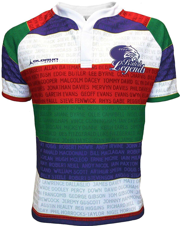 964ad61f9 Olorun British Legends Mens Rugby Shirt Away S-7XL Olorun-Sports