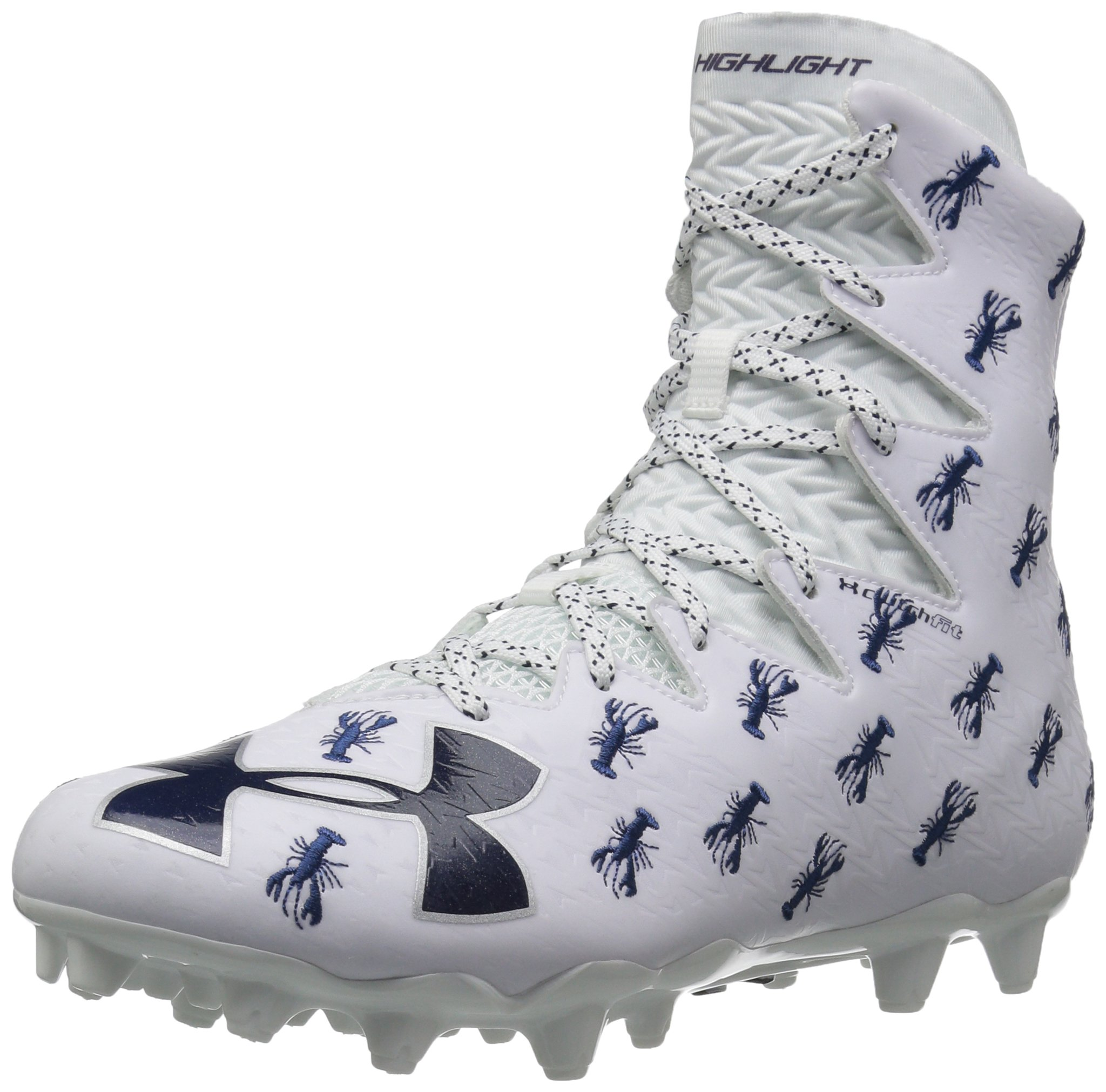 Under Armour Men's Highlight M.C. -Limited Edition Lacrosse Shoe, White (101)/Midnight Navy, 11.5