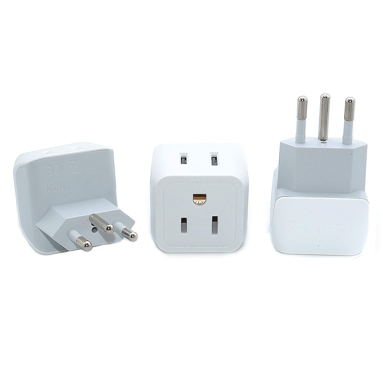 Ceptics USA to UK, Hong Kong Travel Adapter Plug - Type G (3 Pack) - Dual Inputs - Ultra Compact (Does Not Convert Voltage) CT-7