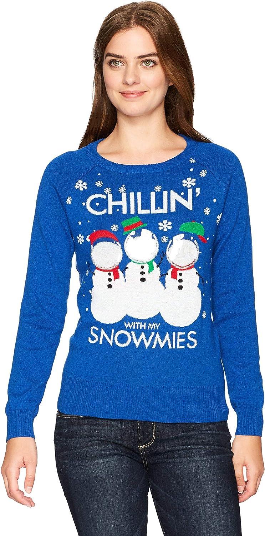Hybrid Apparel Women's Snowmies Selfie Holiday Sweater