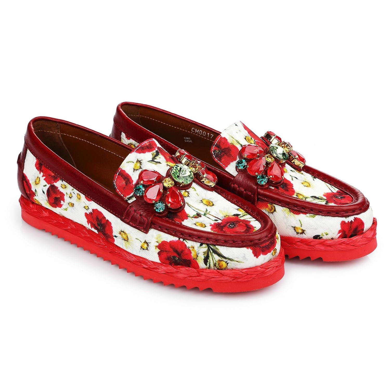 231ababd8ba59 Amazon.com: Dolce & Gabbana Women's Fashion Moccasins Shoes red EU ...