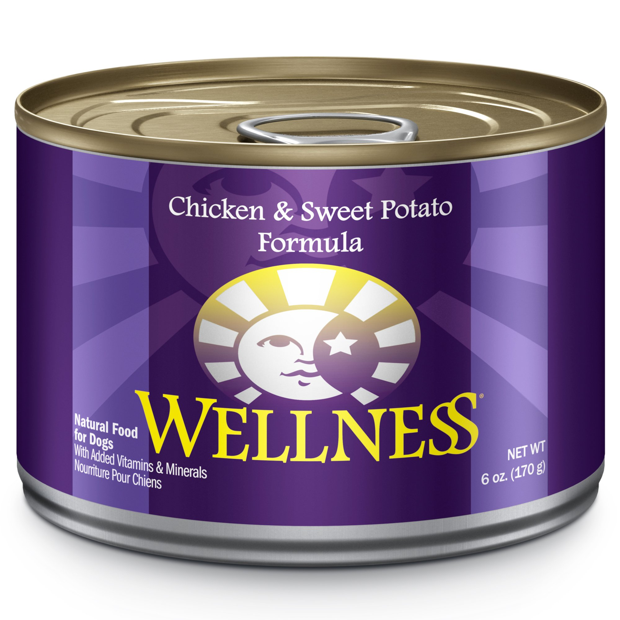 Wellness Complete Health Natural Wet Canned Dog Food, Chicken & Sweet Potato, 6-Ounce Can (Pack Of 24) by Wellness Natural Pet Food