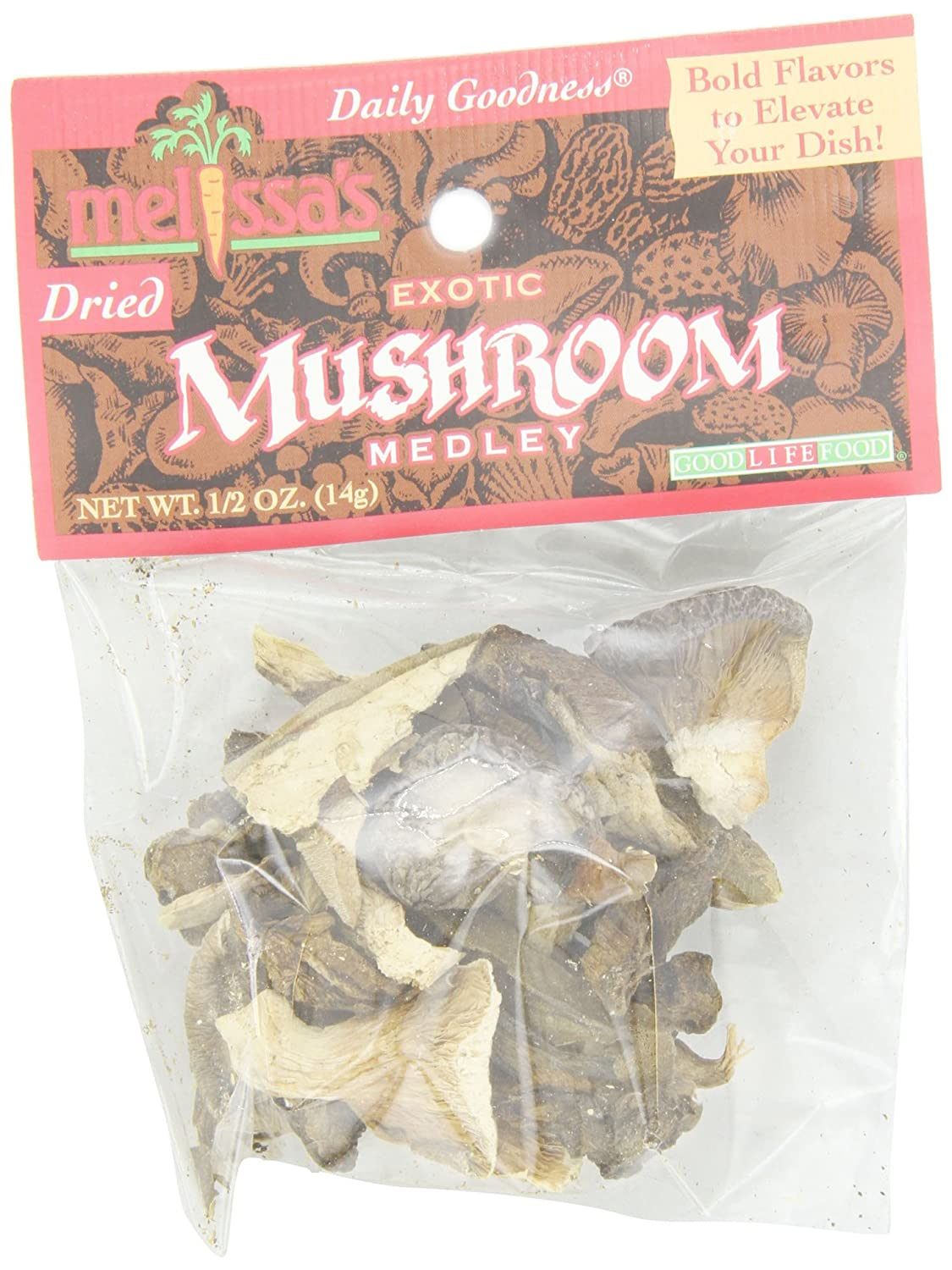 Melissa's Exotic Mushroom Medley, 0.5-Ounce Bags (Pack of 12)