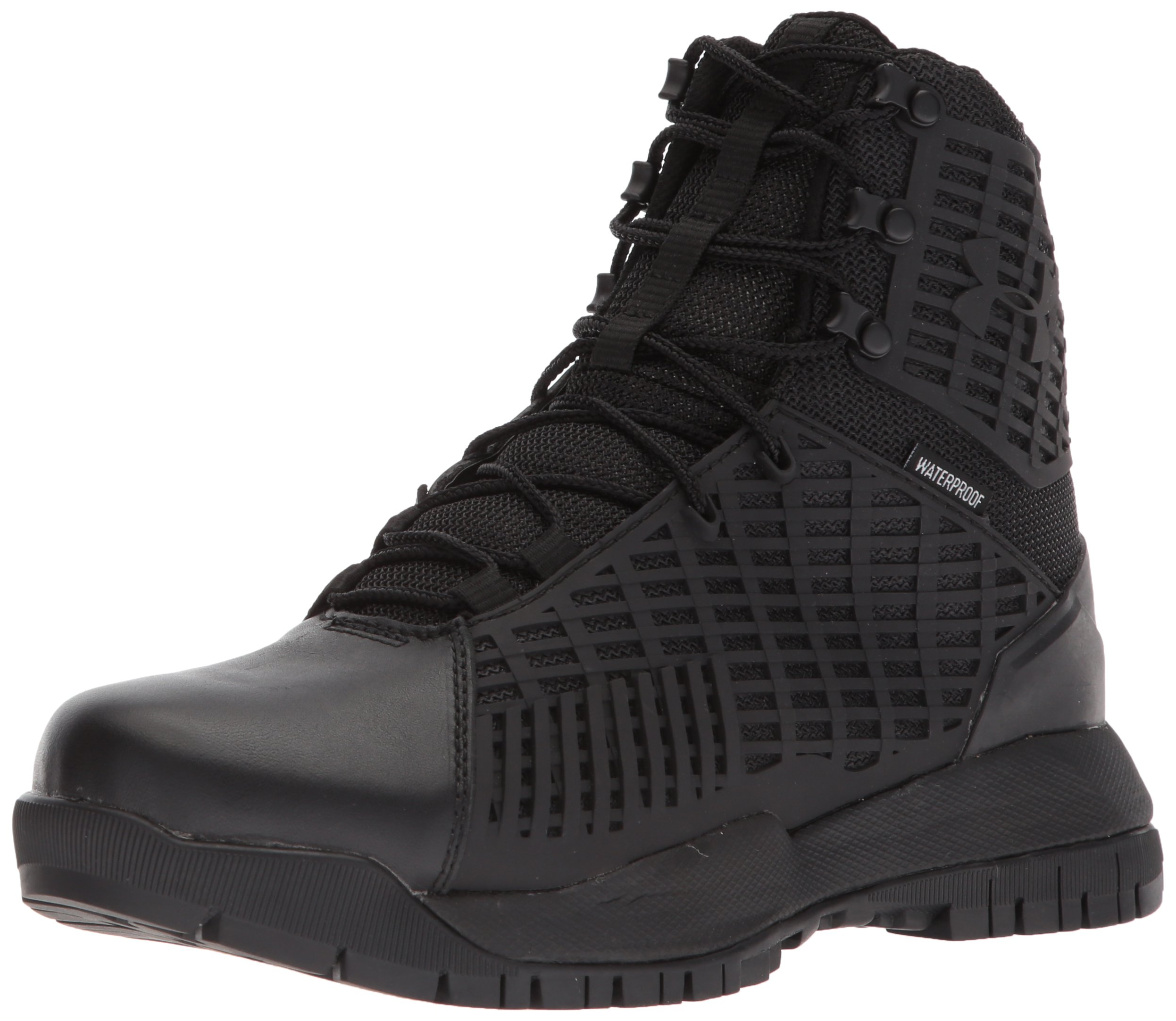 Under Armour Women's Stryker Waterproof Military and Tactical Boot, Black (001)/Black, 7