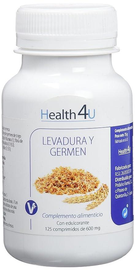 H4U - H4U Levadura de Cerveza y Germen de Trigo 125 comprimidos de 600 mg