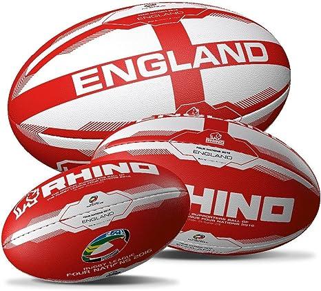 Rhino Oficial Inglaterra Rugby Pelota de Rugby | 4 Naciones Unidas ...