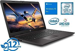"HP 250 G7 5YN17UT Laptop, 15.6"" HD Display, Intel Core i5-8265U Upto 3.9GHz, 4GB RAM, 500GB HDD, HDMI, Card Reader, Wi-Fi, Bluetooth, Windows 10 Pro"