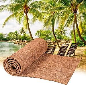 chengfang Coconut Mat, 39.37-78.74in Coco Liner Rol, Bulk Coconut Hanging Baskert Coir Floor Matting, Coco Liner Bulk Roll for Garden Antiskid Keep Warm, Wedding Decoration