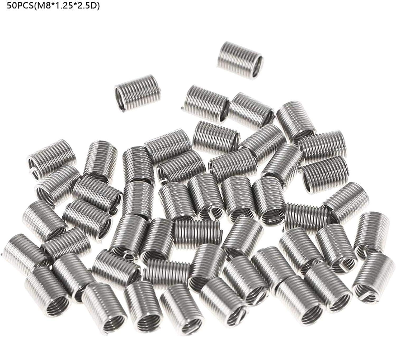 FOTN Nuevos Insertos roscados helicoidales de Rosca helicoidales de Acero Inoxidable M8 SS304