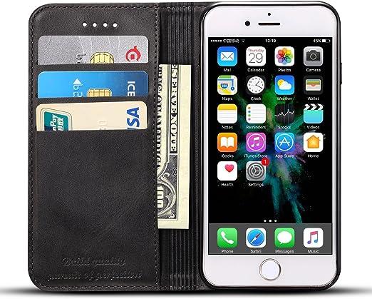 Téléphone 6S Coque, iPhone 6 étui en cuir, étui portefeuille Luxe support de carte de crédit/ID, béquille de protection folio Housse à rabat ...