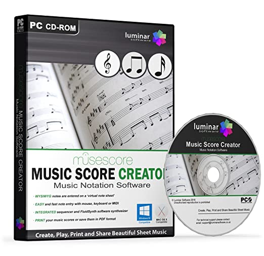 MuseScore - Music Score Creator - Create, Play, Print and Share Beautiful  Sheet Music - BOXED AS SHOWN