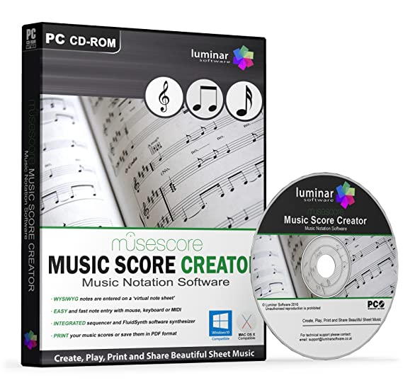 MuseScore - Music Score Creator - Create, Play, Print and Share Beautiful  Sheet Music - BOXED AS SHOWN