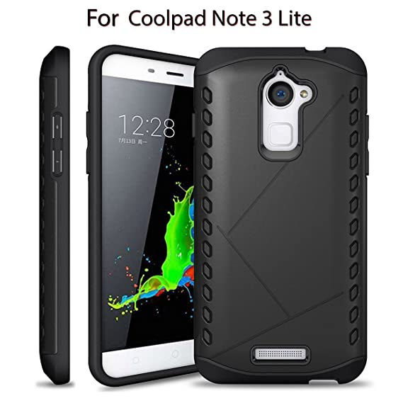 sports shoes de353 eee55 Heartly Hybrid Slim Dual Layer Hard Rugged Shock Proof Tough Armor Bumper  Back Case Cover For Coolpad Note 3 Lite ( 5 Inch ) - Rugged Black