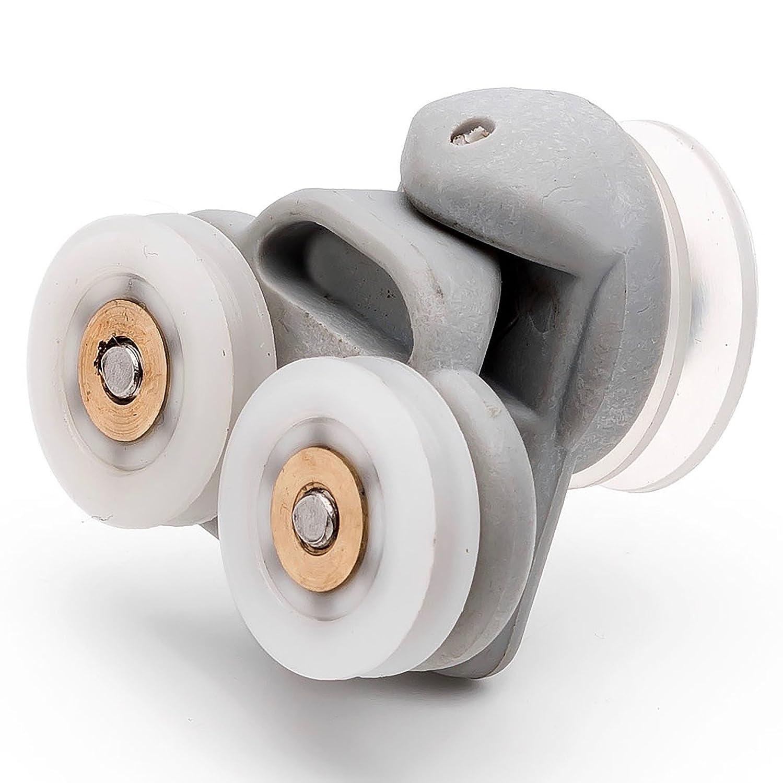 2 x Twin Spare Shower Door ROLLERS/Runners/Wheels 19mm grooved wheel L3