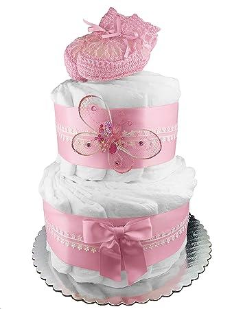 Amazon.com: Pañales para tarta, diseño de flores rosas ...