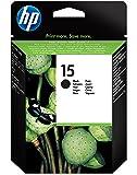 HP 15 - Cartucho de tinta original grande negro, color negro