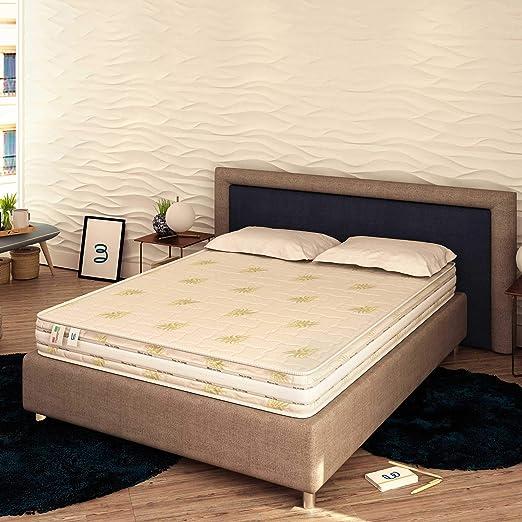 colore: Bianco Materasso a molle insacchettate H2 altezza 20 cm con rivestimento trapuntato di alta qualit/à 70 x 190 cm MSS Medic