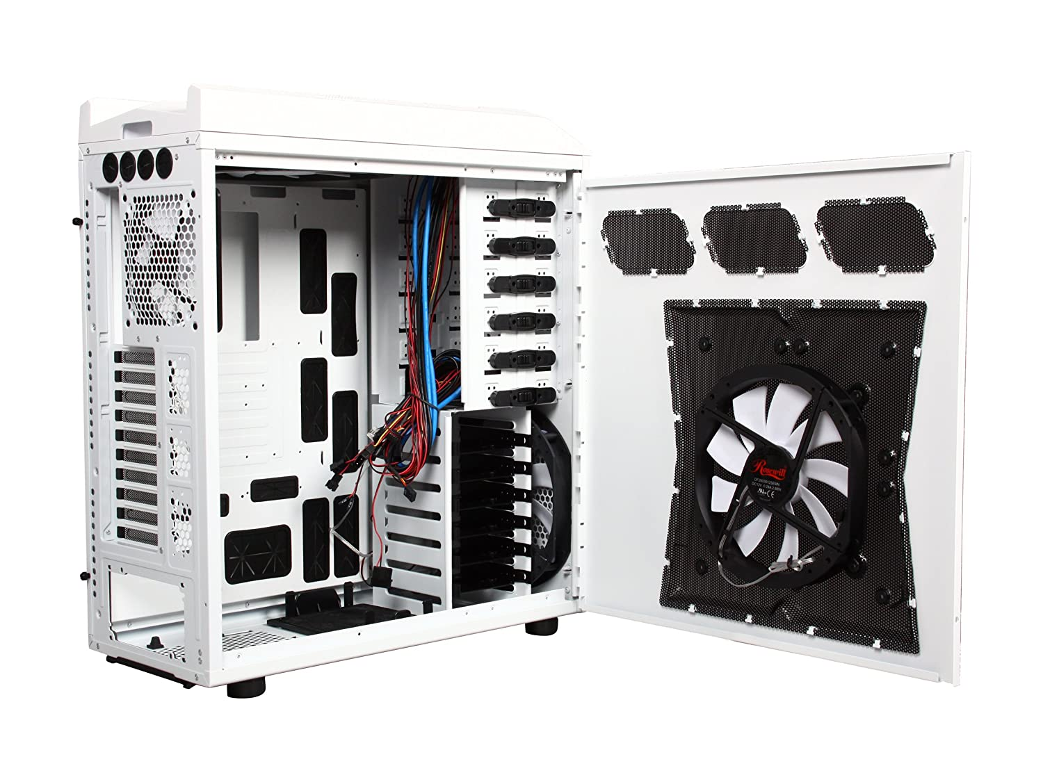 Rosewill Gaming Atx Full Tower Computer Case Cases Thor Gt Enclosures Panels Boards Electrical Boxes V2 W Black White Computers Accessories