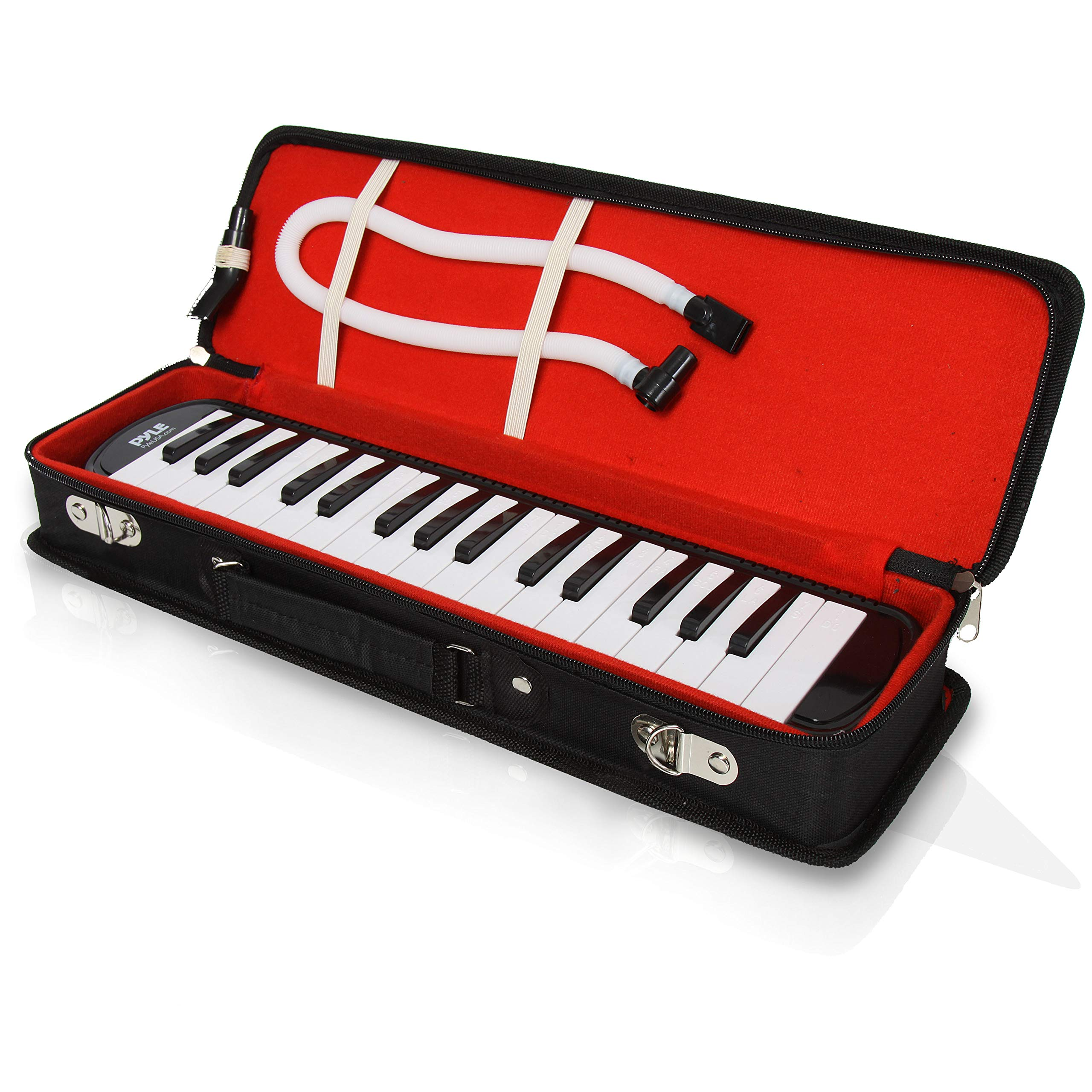 Professional Mouth Piano Melodica Instrument - Mouth Keyboard Piano Organ Melodica Set w/Mouthpiece, Tube Accessories, for Beginner or Band - Pyle (Black) by Pyle (Image #2)
