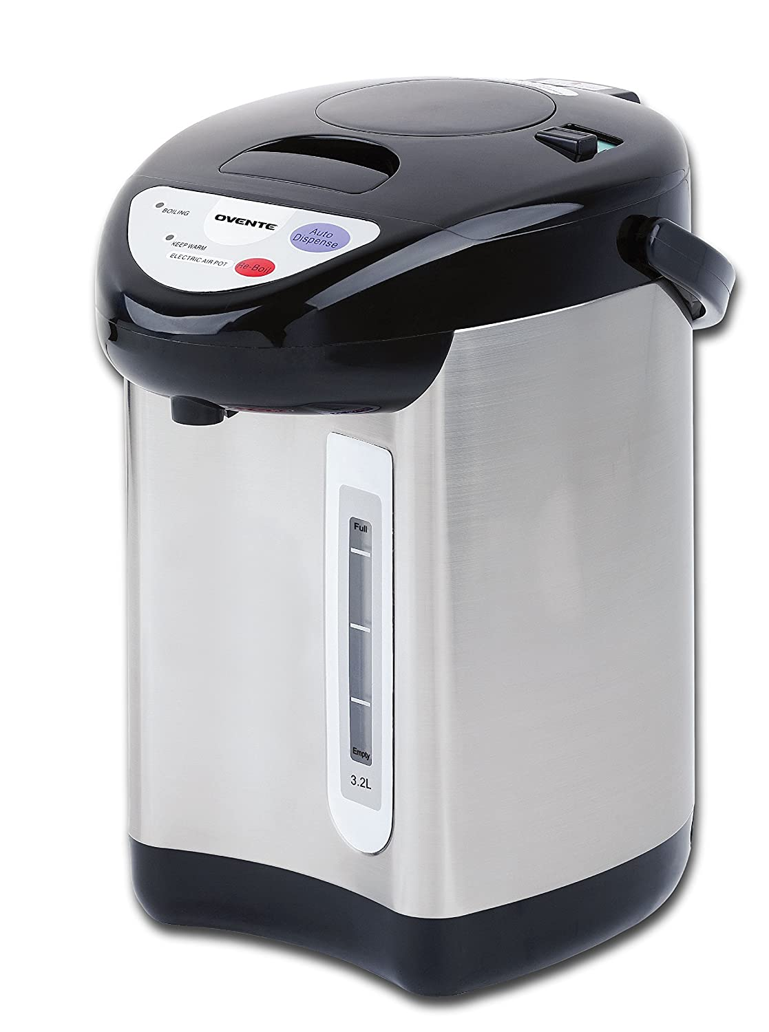 Ovente WA32S 3.2 Liter Insulated Water Dispenser with Boiler and Keep Warm Function,Black Stainless Steel by Ovente   B01183YSVY