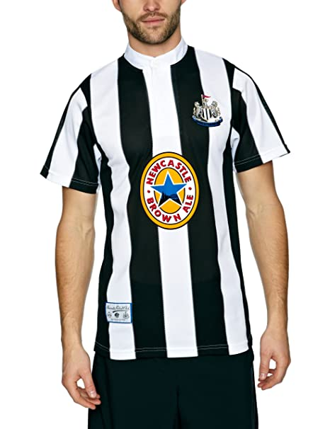 a7ebe0dec7d Score Draw Official Retro Newcastle United 1996 Men s Retro Football Shirt  - Black and White