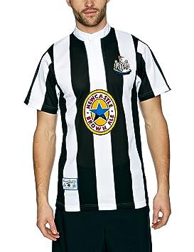 Scotchgard Newcastle - Camiseta de fútbol para hombre, tamaño L, color negro/blanco