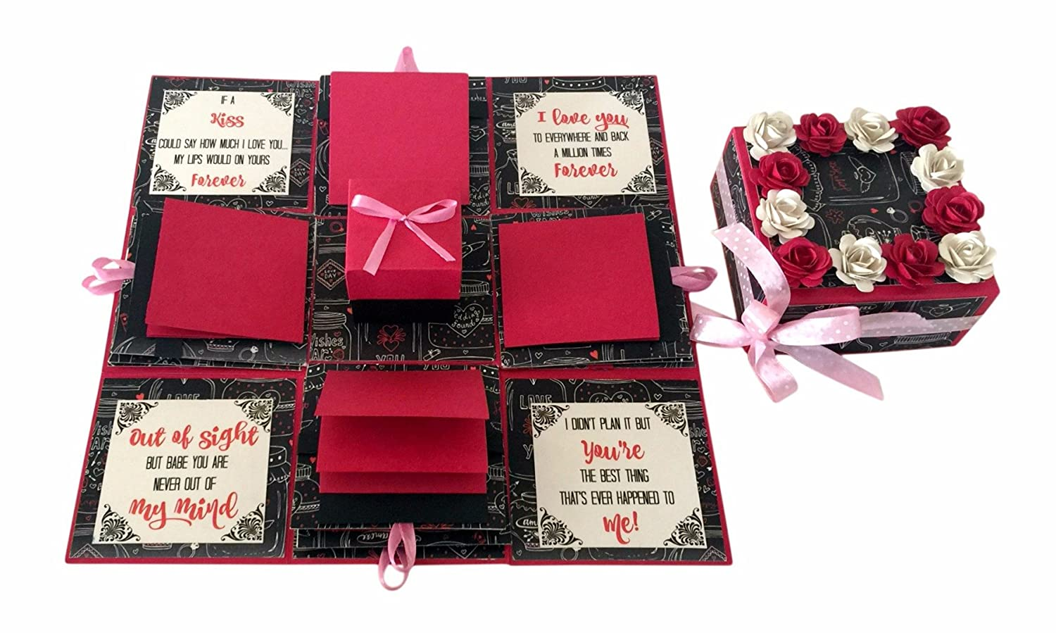 Crack of Dawn Crafts-3 Layered Romantic Explosion Box - Pink Love ...