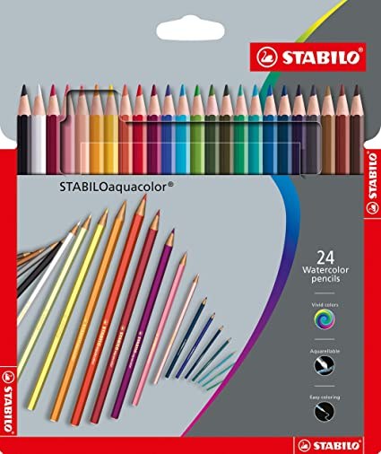 Matita pastelli colorata acquerellabile con pennello confezione 12 24 36 pezzi