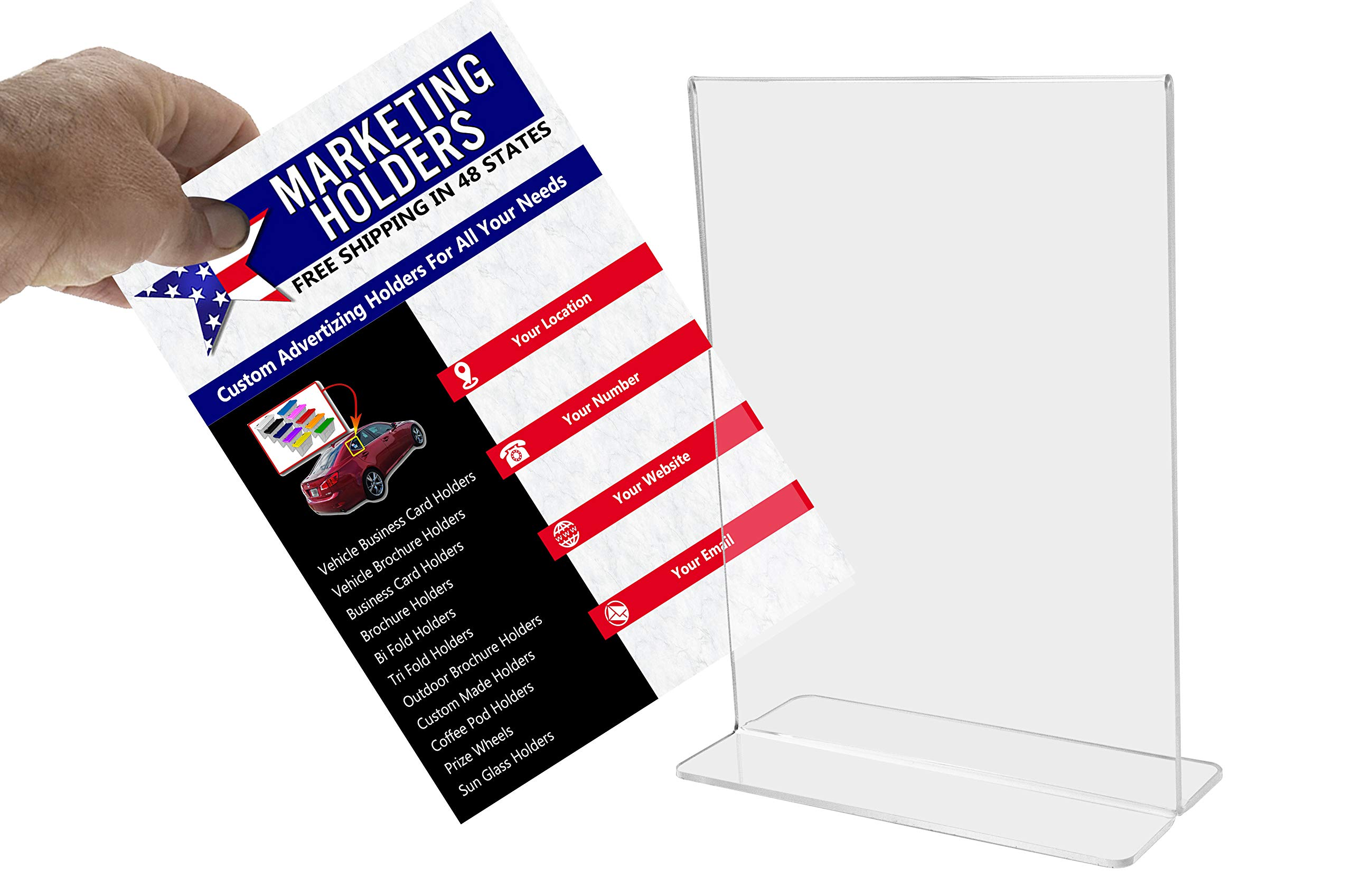 Marketing Holders Bottom Loading Flyer Frame Paper Holder Printed Material Literature Display Advertisement Holder 11''w x 14''h Pack of 30 by Marketing Holders (Image #5)