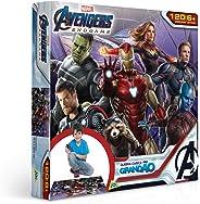 Toyster Quebra-Cabeça Cartonado Vingadores Grandão 120 Peças