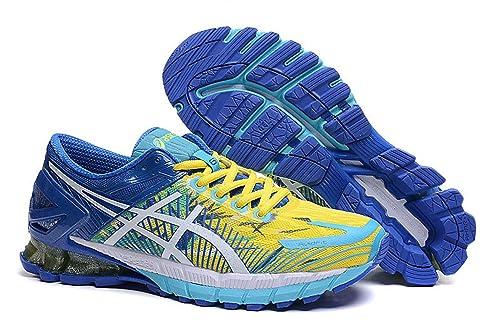 magasin en ligne 153d4 35bcf ASICS Men's GEL-Kinsei 6 Running Shoe,Blue/Flash Yellow ...