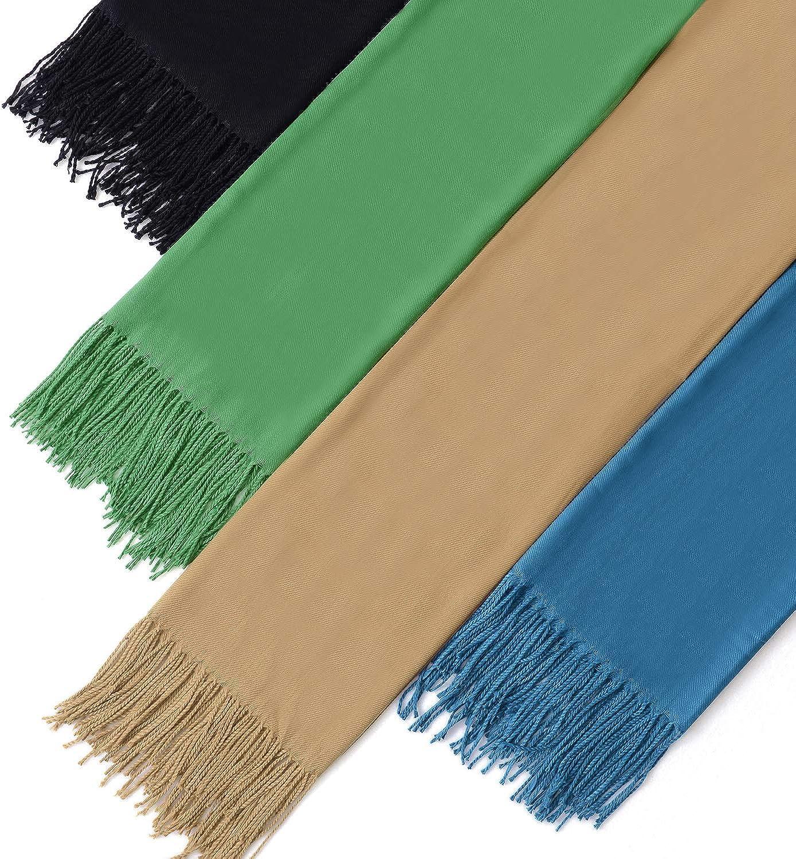 Farben Einfarbig Schal GERIINEER Schals Damen Herren Herbst Long Warm mit quasten//fransen,20