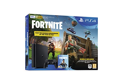 e2b40c6e5e177 Sony Playstation 4 500GB Console (Black) with Fortnite and Royal Bomber  Pack DLC  Amazon.co.uk  PC   Video Games