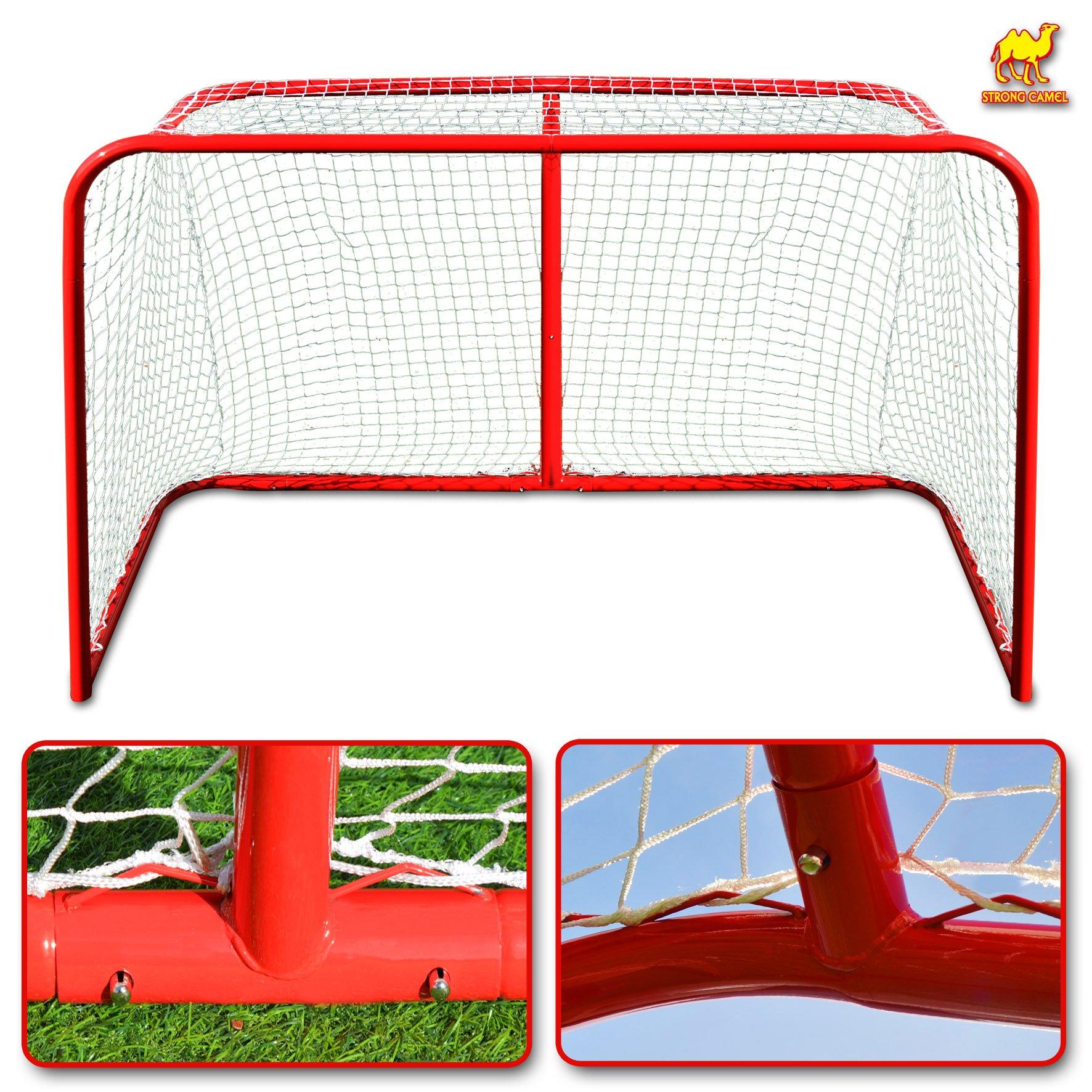 Strong Camel Senior Hockey Elite Goal With Steel Tubing 72'' x 48'' x 32'' (4 x 6-Feet) Regulation Net