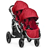 Baby Jogger City Select Double Stroller with Second Seat, Ruby