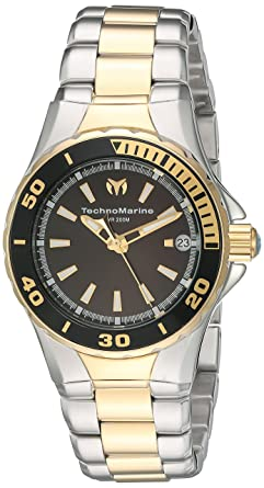 Technomarine Womens Sea Manta Swiss Quartz Stainless Steel Watch, Color:Two Tone